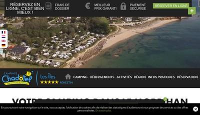Site internet de Societe Camping des Iles