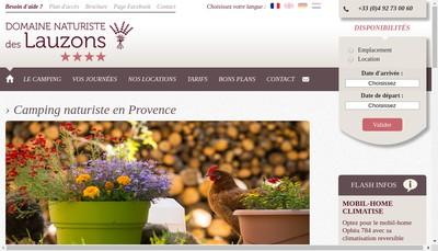 Site internet de Domaine des Lauzons