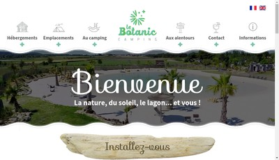 Site internet de Camping le Botanic