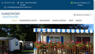 Site internet de Camping le Lieu Castel