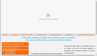 Site internet de Camping le Fief