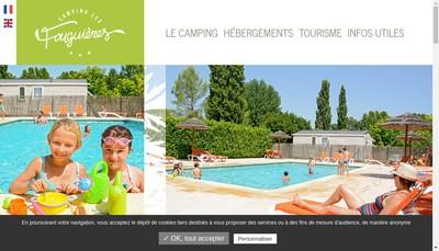 Site internet de Camping les Fouguieres