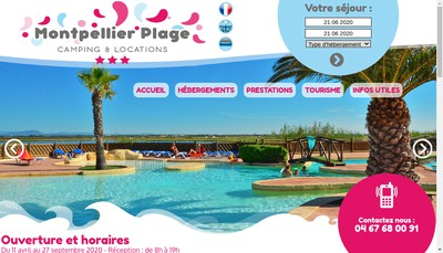 Site internet de Montpellier Plage