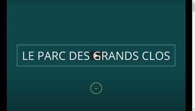 Site internet de Le Parc des Grands Clos