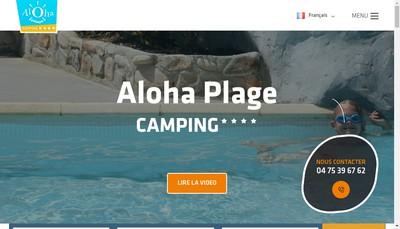 Site internet de Camping Aloha Plage