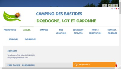 Site internet de Camping des Bastides