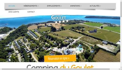 Site internet de Camping du Goulet