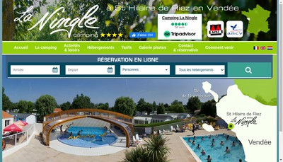 Site internet de Camping de la Ningle