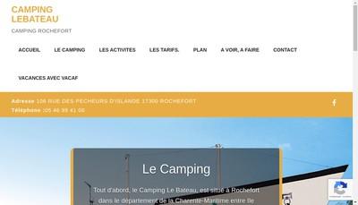Site internet de Camping le Bateau