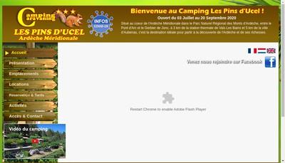 Site internet de Camping les Pins d'Ucel