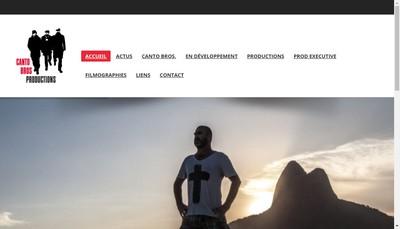 Site internet de Canto Bros Productions