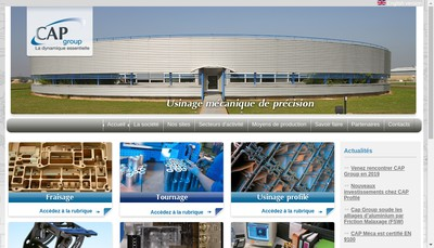 Site internet de Cap Meca