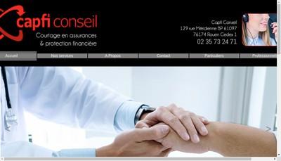 Site internet de Capfi Conseil