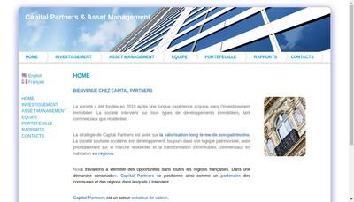 Site internet de Capital Partners & Asset Management