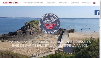 Site internet de Captain Taxi
