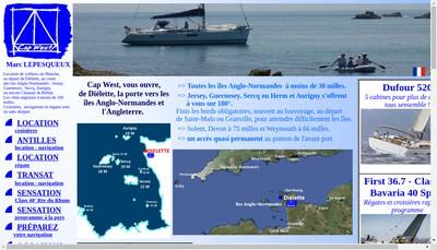 Site internet de Marc Lepesqueux Sensation Class 40 Sensation Course au Large Sensation Transat www.capwest.fr