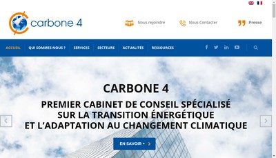 Site internet de Carbone 4 Holding