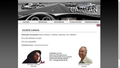 Site internet de Carman
