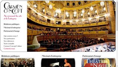 Site internet de Carmen Concept