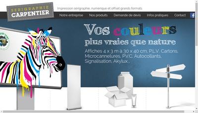 Site internet de Serigraphie Carpentier