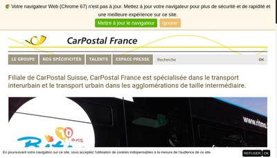 Site internet de Keolis Villefranche-sur-Saone
