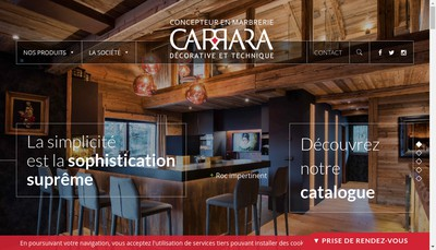Site internet de Carrara