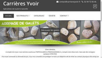 Site internet de Carrieres Yvoir