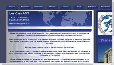 Site internet de Les Cars Amt