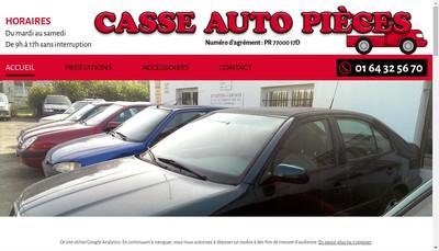 Site internet de Casse Autos Pieces