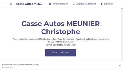 Site internet de Cass'Autos Meunier C