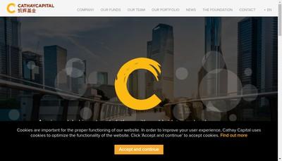 Site internet de Cathay Innovation