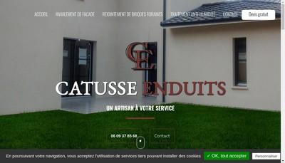 Site internet de Catusse Enduits