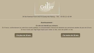 Site internet de Le Cellier des Gourmets