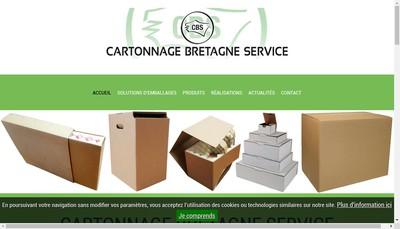Site internet de Cartonnage Bretagne Service