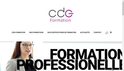 Site internet de Cdg Formation