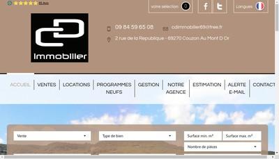 Site internet de Cd Immobilier