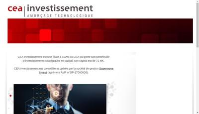 Site internet de Cea Investissement