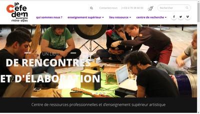 Site internet de Association Cefedem
