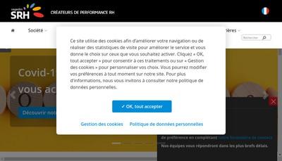 Site internet de Cegedim Solutions Ressources Humaines