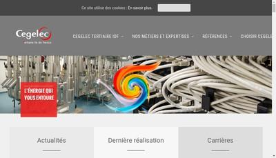 Site internet de Cegelec Tertiaire Ile de France
