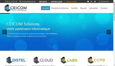 Site internet de Ceicom Solutions
