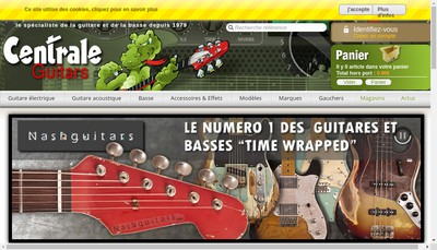 Site internet de Centrale Guitars