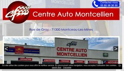 Site internet de Centre Auto Montcellien