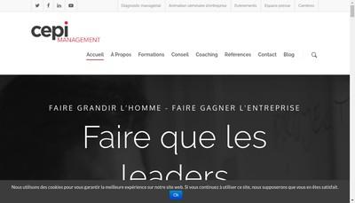 Site internet de Cepi Management