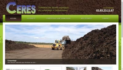 Site internet de Ceres Environnement