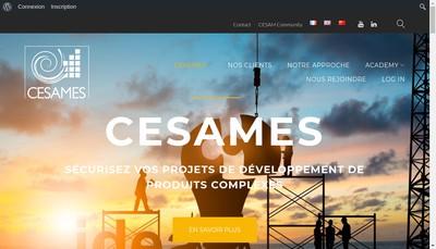 Site internet de CESAMES Groupe