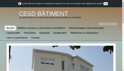 Site internet de CESD Batiment