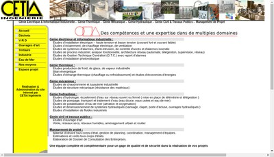 Site internet de Cetia Ingenierie