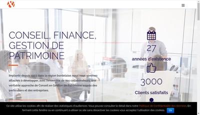 Site internet de Conseil Finance Gestion Patrimoine Cfgp