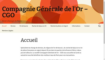 Site internet de Compagnie Generale de l'Or CGO